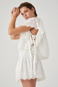 Hope Crop Blouse - Ivory
