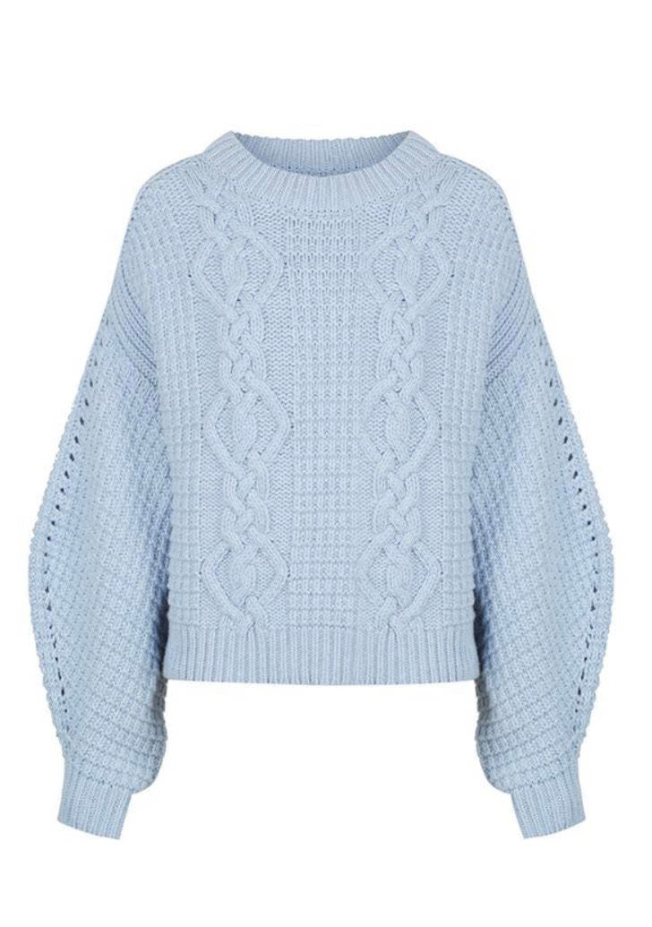 Willow Cocoon Sleeve Cable Jumper