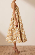 Load image into Gallery viewer, Margarita Linen Tiered Midi Dress