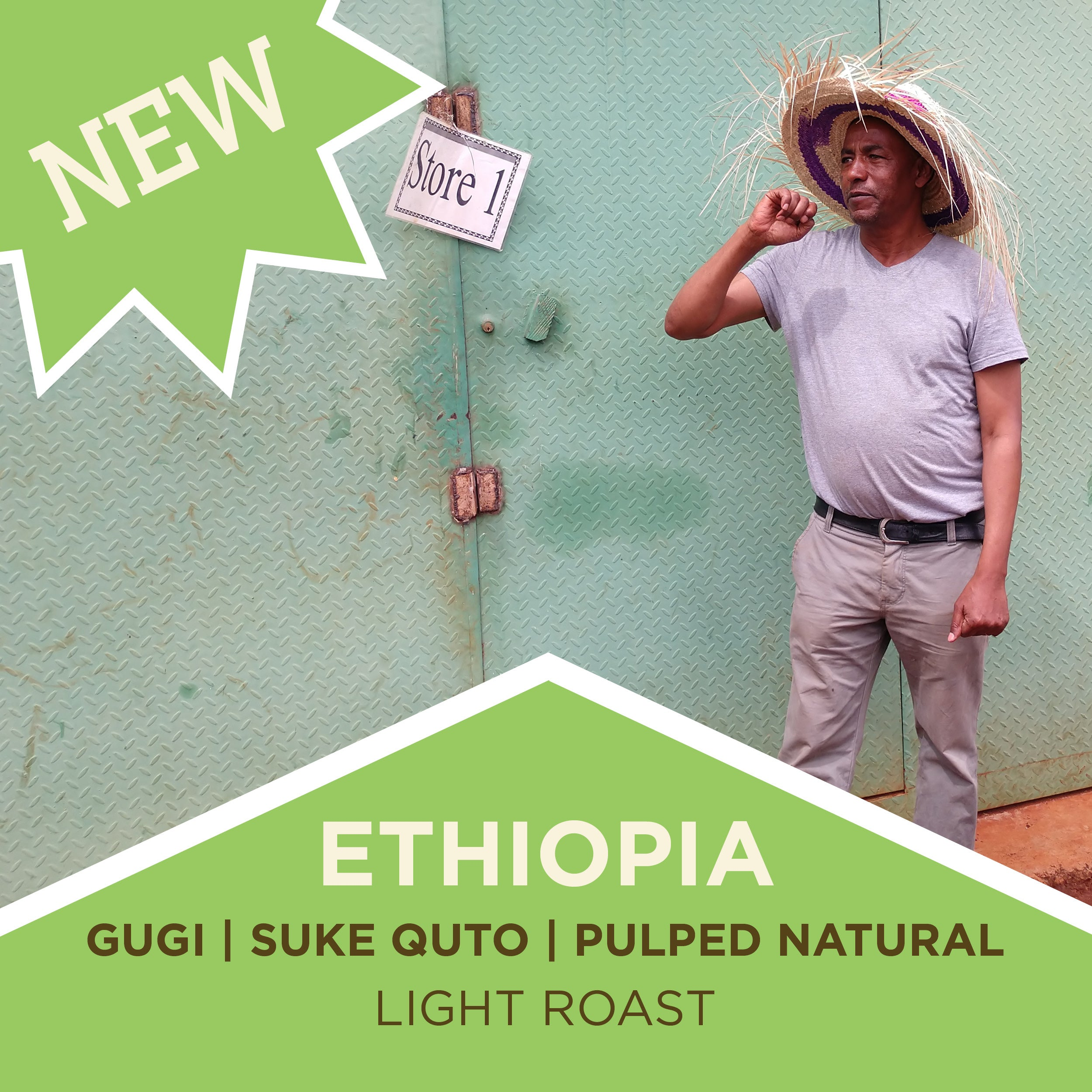 Ethiopia Guji | Suke Quto | Pulped Natural - Light Roast