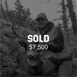Lot #10: 2020 South Slope, Diamond Mtn; Buck Deer: Any Legal Weapon