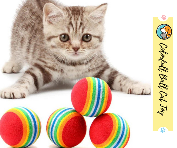 Cozy Colorful Ball Cat Toy