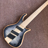 Tiger flame top 4-String Handmade Electric Bass