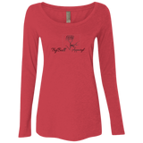 Ladies' Rose Triblend LS Scoop