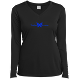 Ladies' Butterfly LS Performance V-Neck T-Shirt