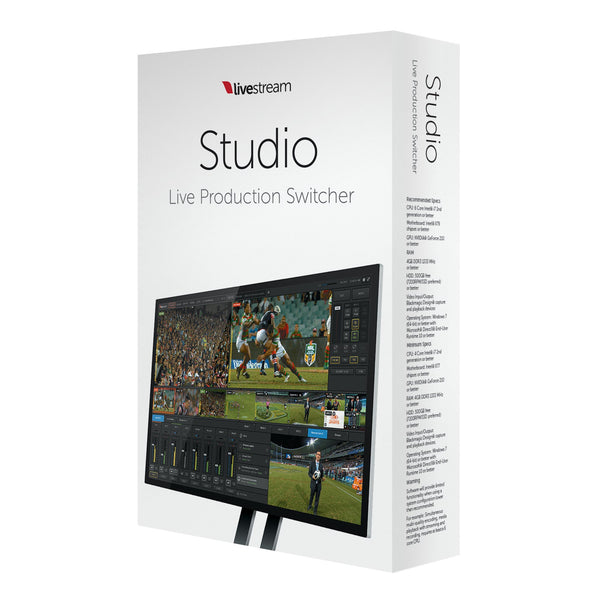 Livestream Studio Software box front side