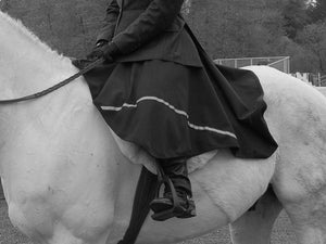 Wearing Riding Skirt at Horse Show