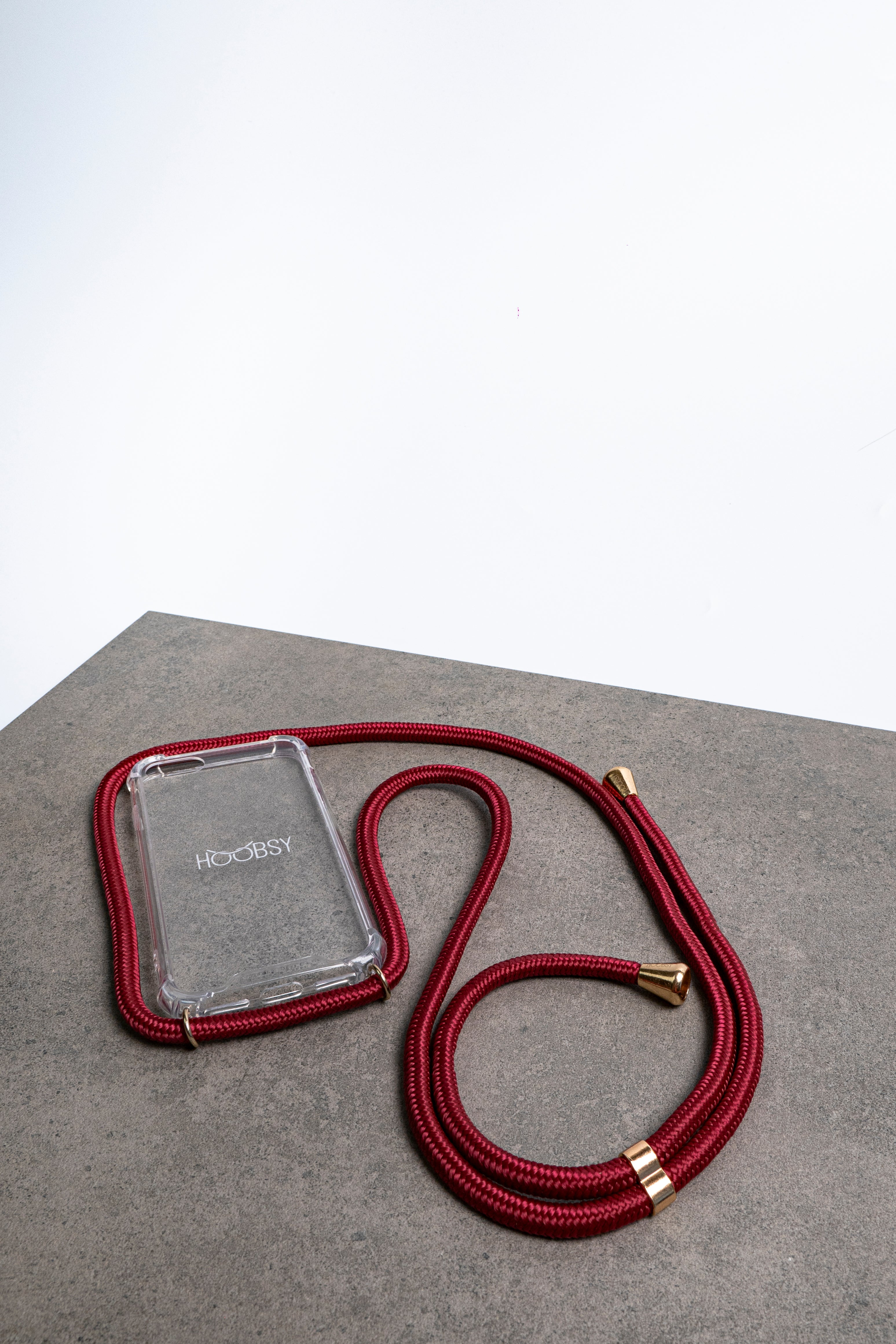 PHONE NECKLACE - BURGUNDY