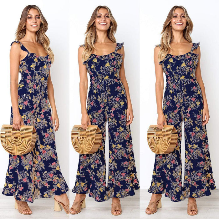 Open Back Sleeveless Sling Jumpsuit