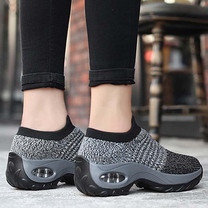 Womens All Season Flyknit Fabric Athletic Sneakers