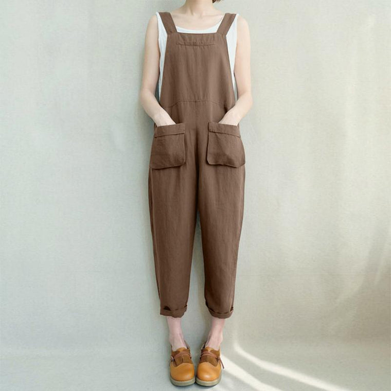 2d78c48dc0ff Casual Strappy Loose Turnip Rompers with Pockets