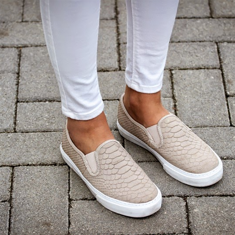 Plus Size Women Fashion Slip-on Sneakers