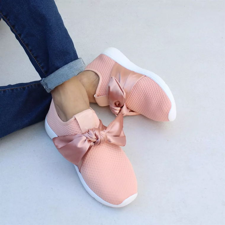 JellyNova New Neutral  Bow Sneakers