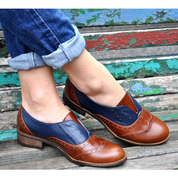 Laceless Oxfords Loafers Slip on Shoe