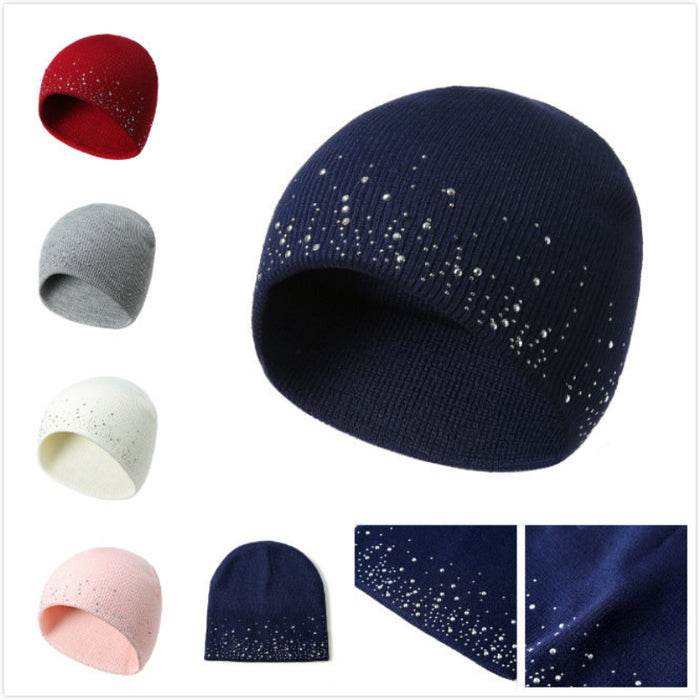 Womens Ethnic Wool Knitted Hat Beanie Hat Vintage Good Elastic Warm Winter Turban Caps