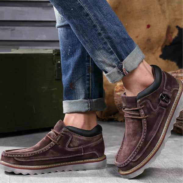 Washable Sewing Retro Classic Lace Up Casual Shoes For Men