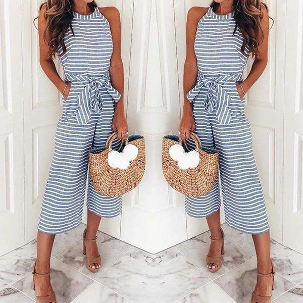 9b56e9670209 Striped Vacation Casual Jumpsuit  Striped Vacation Casual Jumpsuit ...