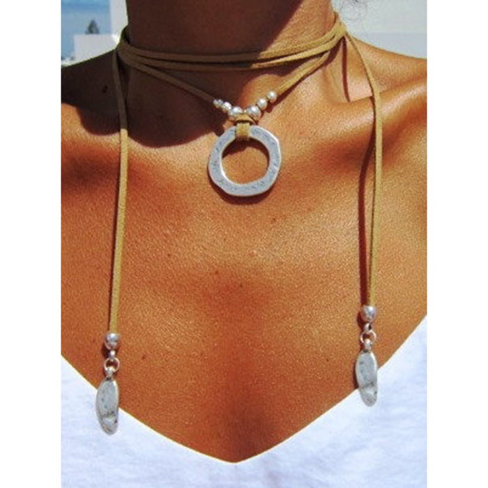 minimal necklace Boho jewelry bohemian hippy jewelry gypsy necklaces