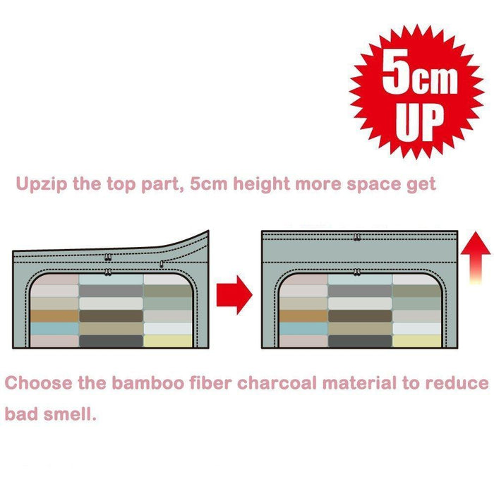 Bamboo Charcoal Folding Clothes Storage Bags