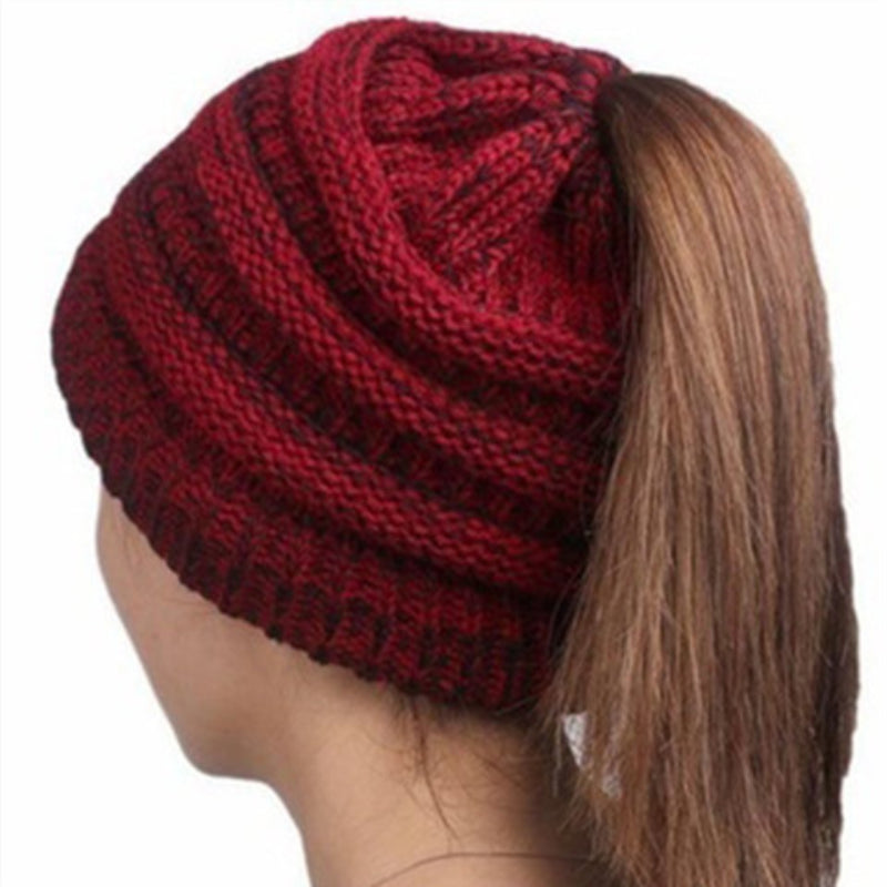 Women's Knitting Wool Earpiece Cap Hats