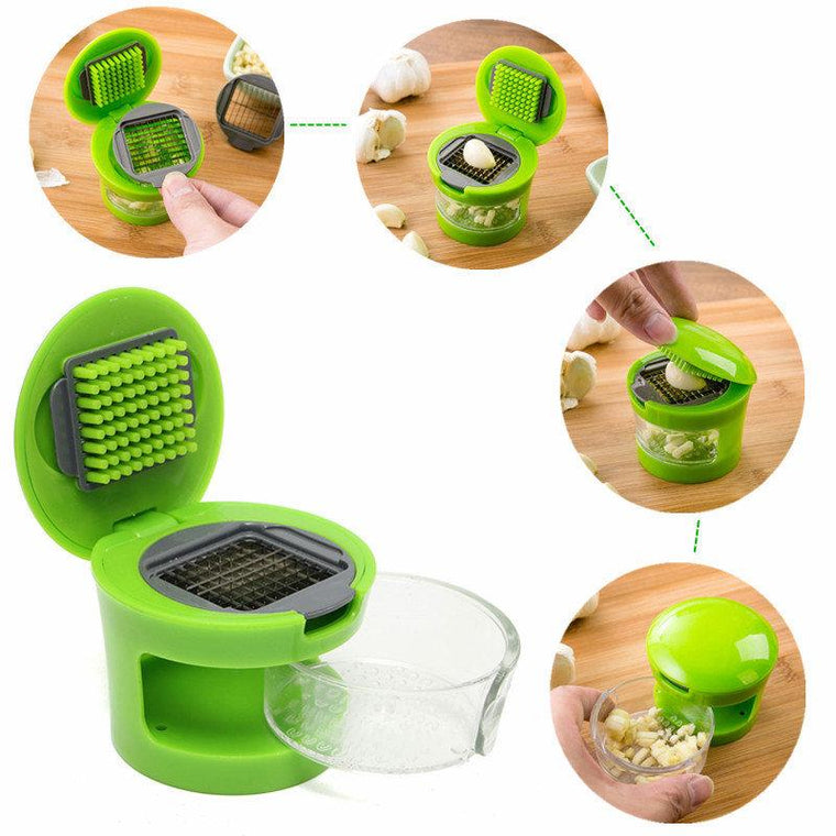 Kitchen Garlic Press Chopper Slicer Hand Presser Garlic Grinder Crusher