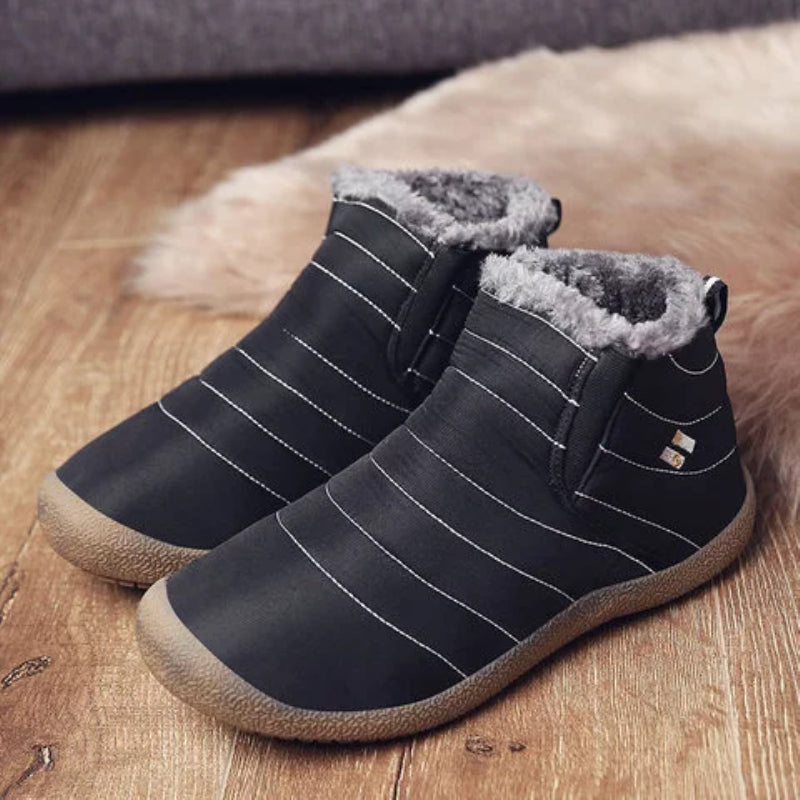 Waterproof Cloth Slip On Snow Boots