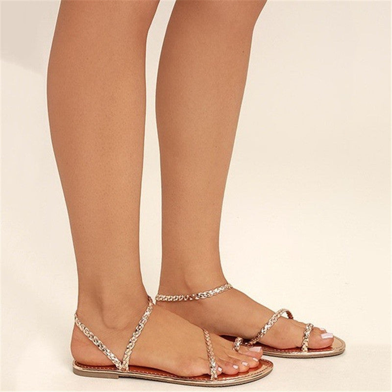 Beach Open Toe Flat Sandals