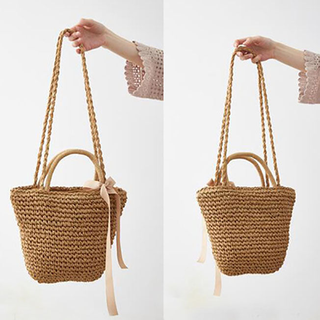 Women summer beach bags Ladies handbags large tote bag Straw shoulder Bags
