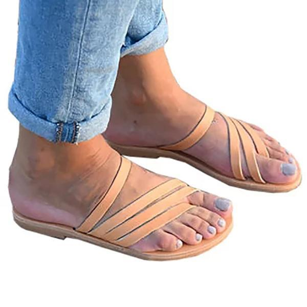 Women Pu Slippers Casual Flip Flops Shoes