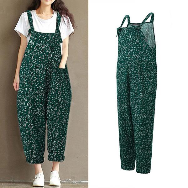 e818f5981624 Comfy Bow Floral Printed Casual Jumpsuits