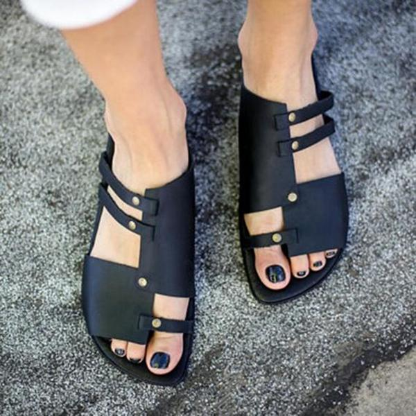 Summer Soft Comfortable Flat Sandals For Women