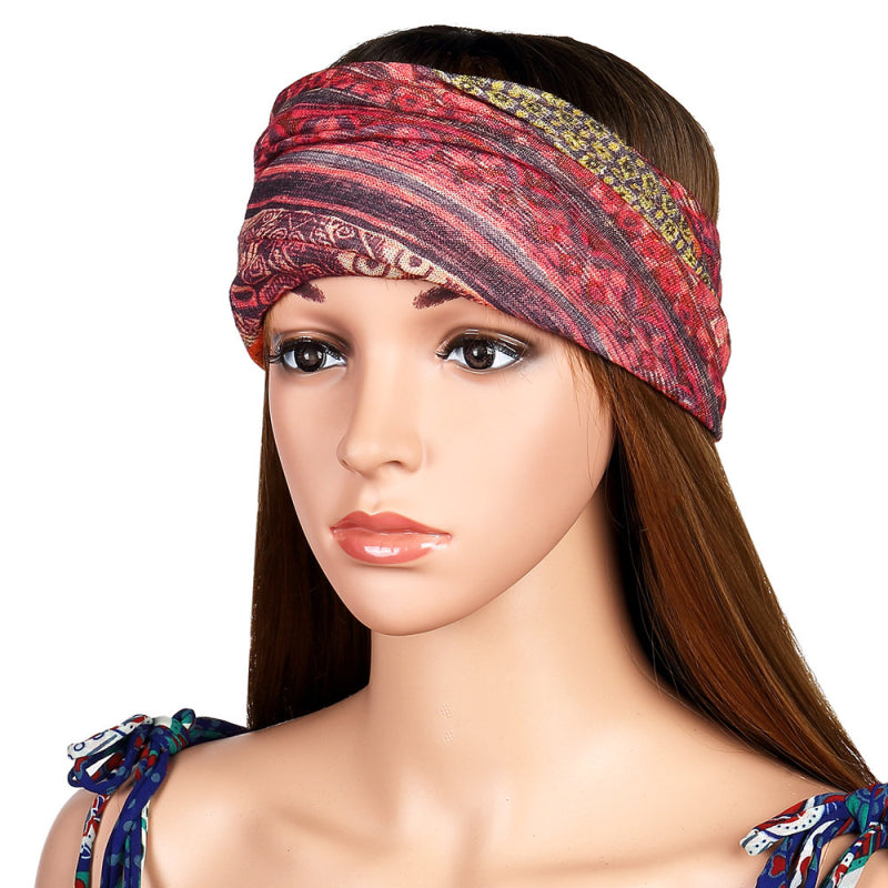 7fd3d039886 ... Womens Cotton Ponytail Beanie Hat Vintage Print Beanie Hats Outdoor For  Both Hats And Scarf Use ...
