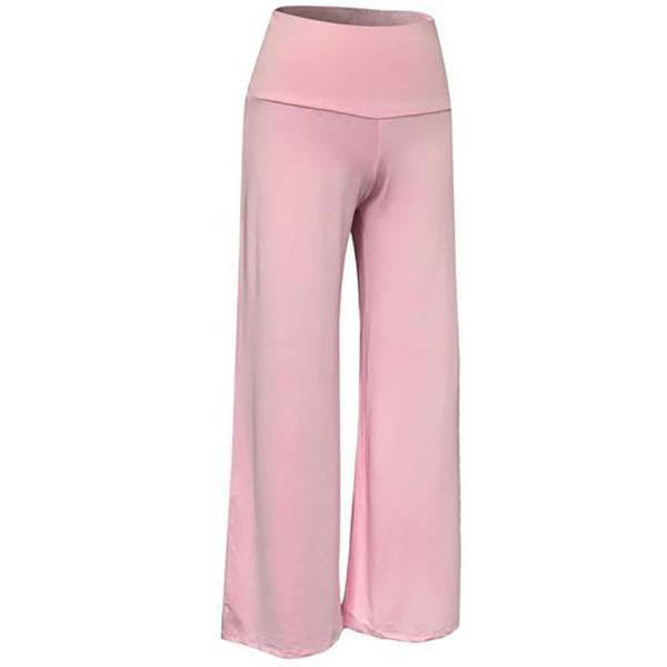 Women High Waist Loose Palazzo Stretch Wide Leg Long Pants