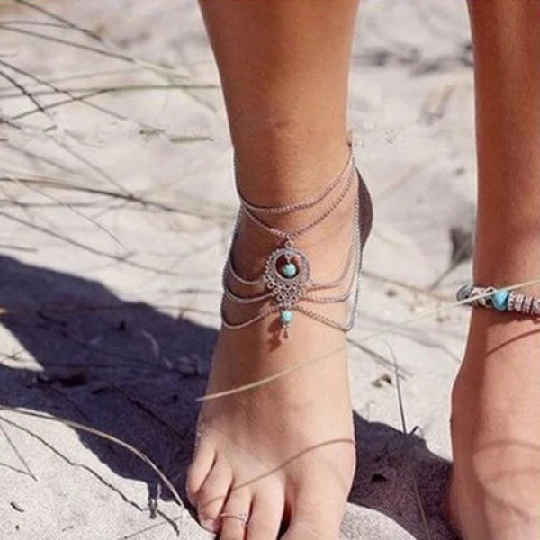 Women Accessories Turquoise Anklets