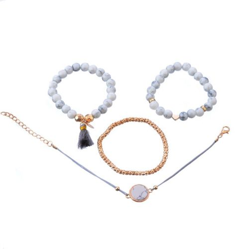 Women Dream Catcher Pendant Boho Bracelet Set Multilayer Chain Cuff Bangle