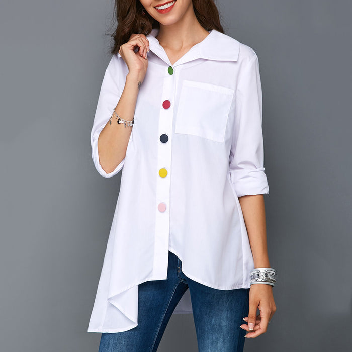 Buttoned Casual Solid Shirt