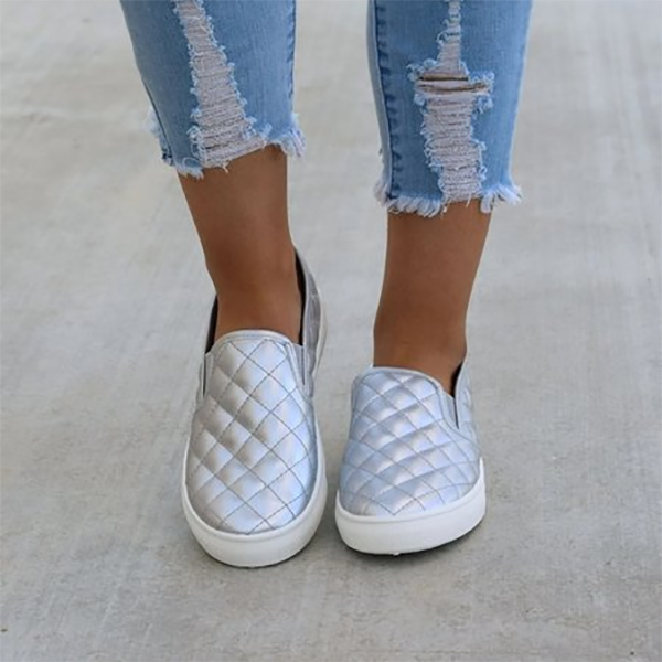 Casual Lattice Flat Loafer Shoes