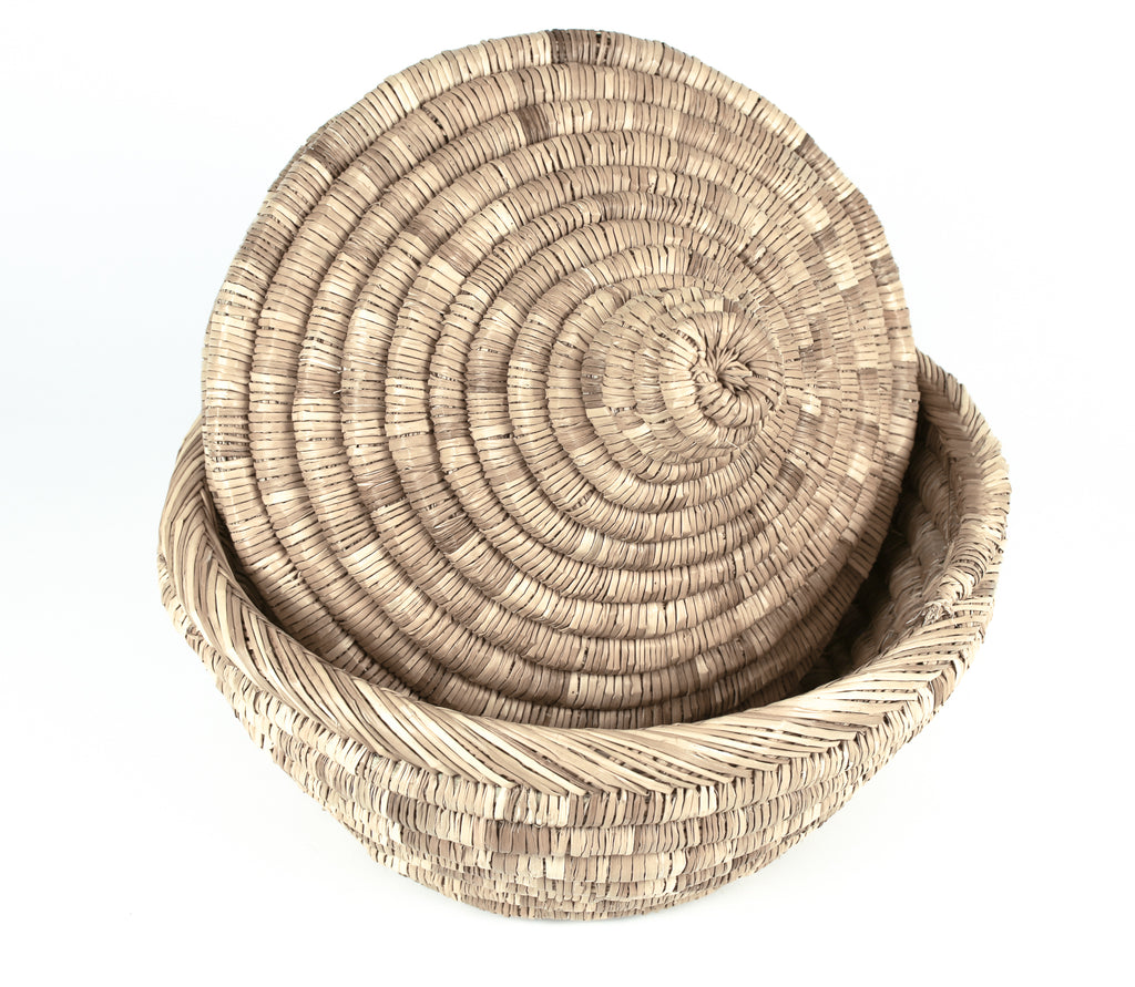 hand woven bread basket from Morocco