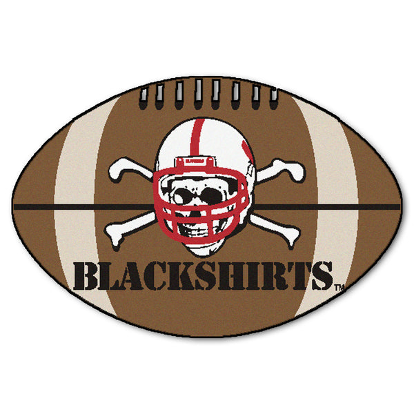 "Nebraska Blackshirt ""Football"" Floor Mat (22""x35"")"