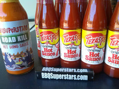 9 Bottles of 6oz Texas Pete and 1 Bottle BBQSuperStars Wing Sauce