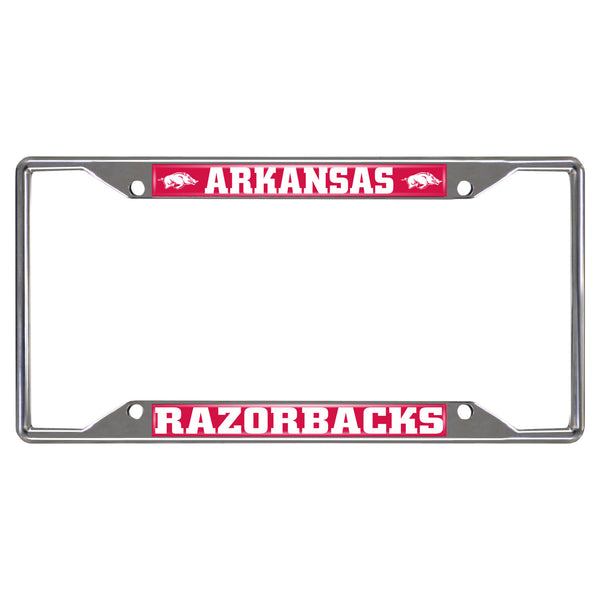 "Arkansas Fan Mats License Plate Frame 6-1/4"" X 12-1/4"""