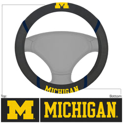 Michigan Leather Steering Wheel Cover
