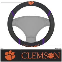 Clemson Leather Steering Wheel Cover