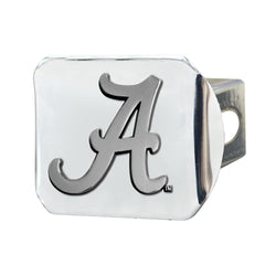 Alabama Chrome Metal Collegiate Hitch Cover