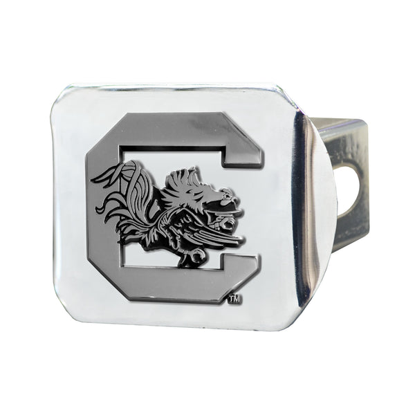 South Carolina Chrome Metal Collegiate Hitch Cover
