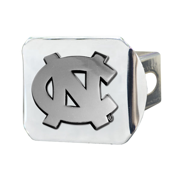 North Carolina Chrome Metal Collegiate Hitch Cover