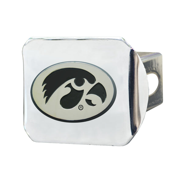Iowa Chrome Metal Collegiate Hitch Cover