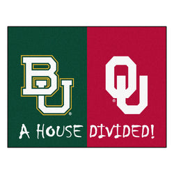 "Baylor/Oklahoma House Divided NCAA ""All-Star"" Floor Mat (34""x45"")"