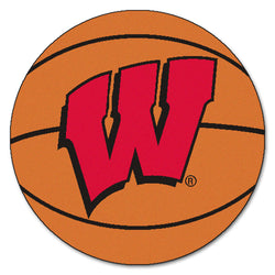 "Wisconsin ""Basketball"" Round Floor Mat (29"")"