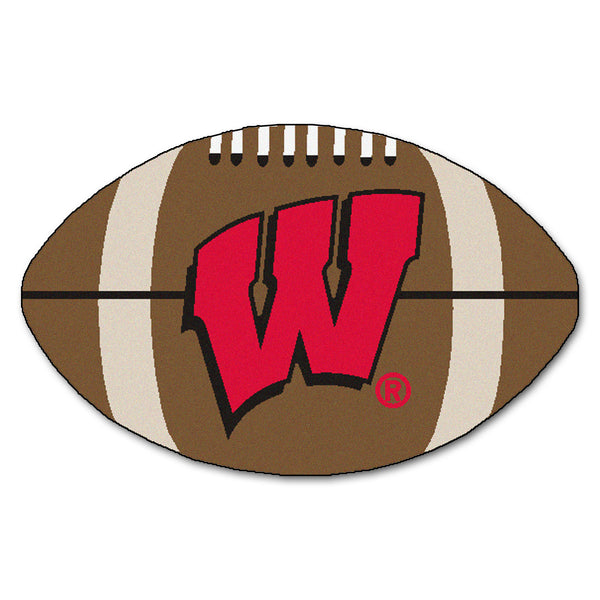"Wisconsin Badgers ""Football"" Floor Mat (22""x35"")"